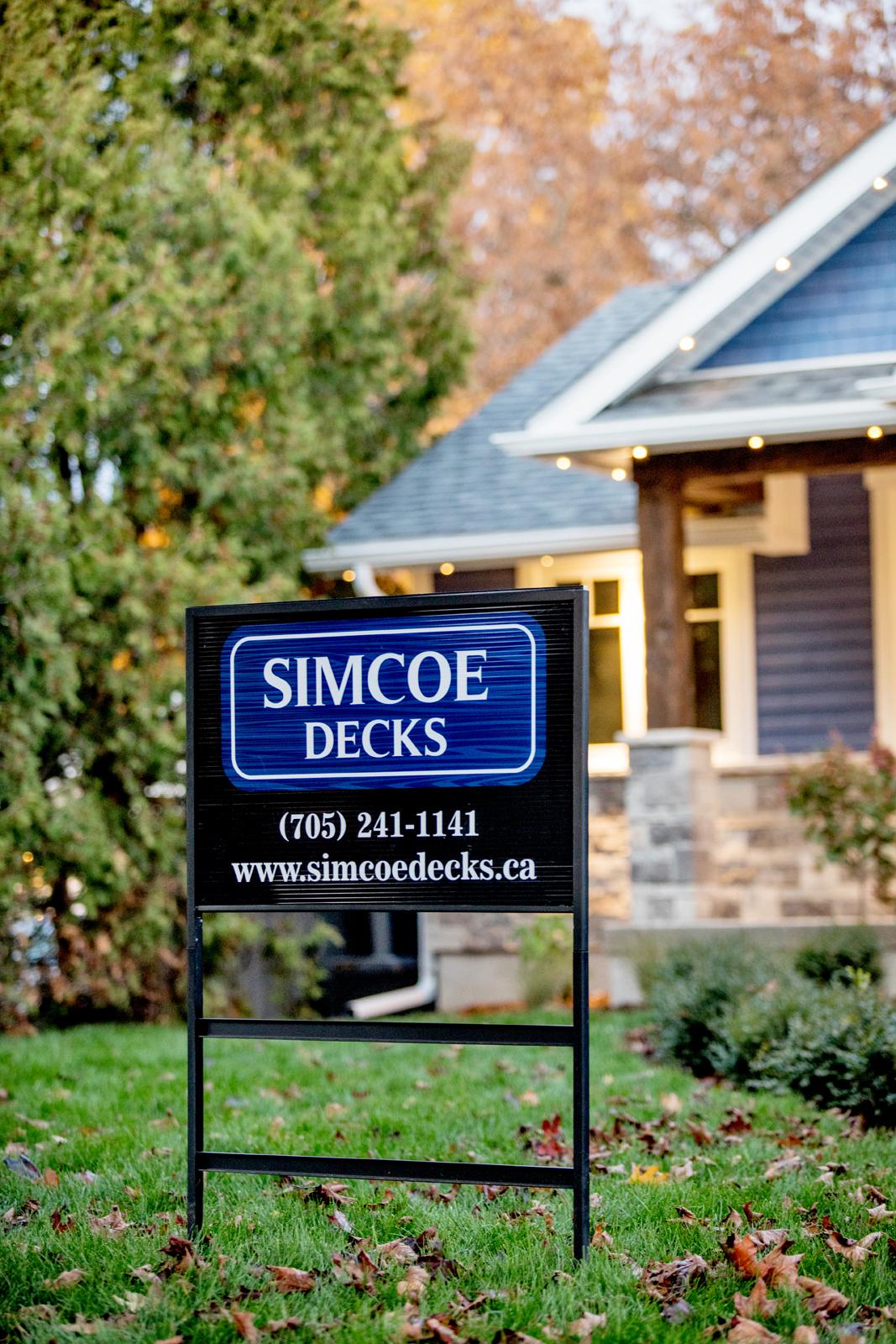 Simcoe Decks Yard Sign
